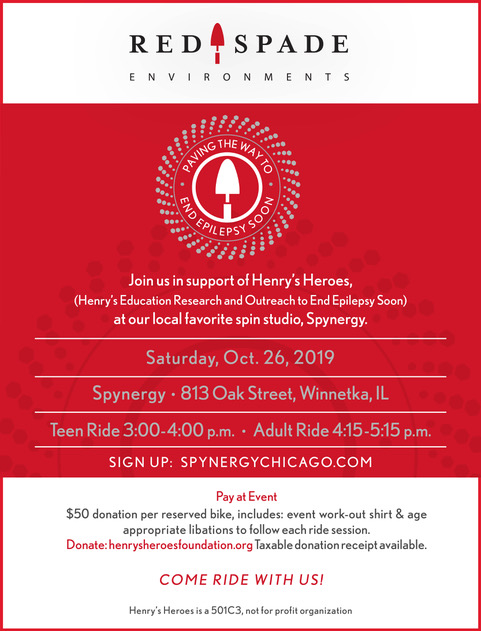Red Spade Ride to End Epilepsy Soon! Sign up spynergychicago.com